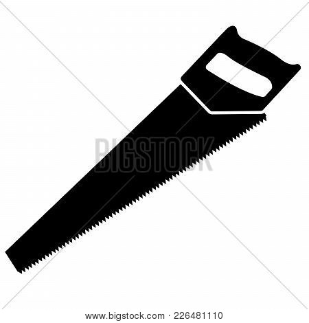 Hand Hacksaw On A White Background. Vector Illustration