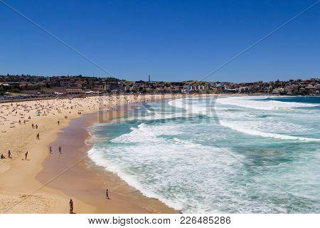 Bondi Beach In Sydney Austrlia Clear Day