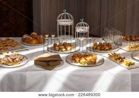 Light Table With Baking For Wading, Catering For Party Events. Catering For Parties, Pastry.