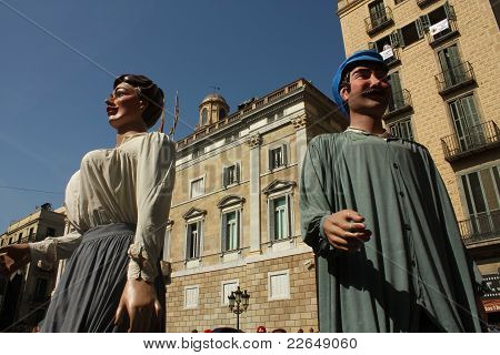 Giant in traditional festivals Barcelona.