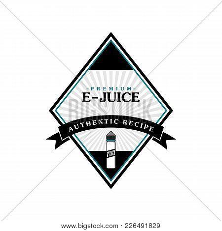 Personal Vaporizer E-cigarette E-juice Liquid Label Badge