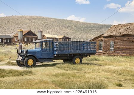 Bodie, California, Usa - August 31, 2017 : Old Truck In Bodie Ghost Town, California. Bodie Is A His