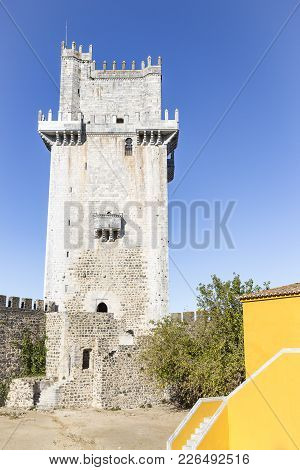Tower Of Homage Inside The Castle In Beja City, Alentejo, Portugal