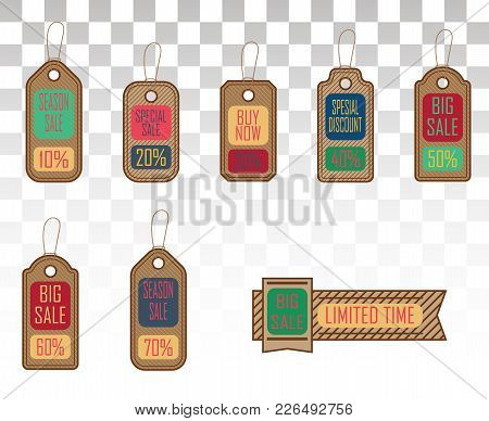 Set Of Stickers For Best Stock Sales . Sale Tags. Vector Illustration.eps 10.