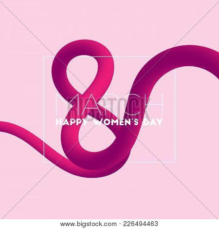 Happy Women's Day. March 8 Blended Interlaced Greeting Card Design