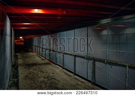 A New Railing With A Barrier Under The Reconstructed Bridge In The Celakovskeho Street In Chomutov C