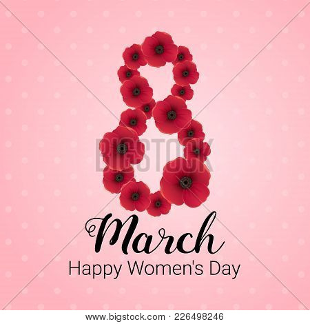 8 March International Women's Day Vector Card
