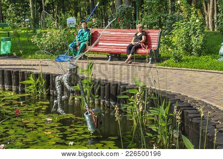 Kharkov, Ukraine - September 5, 2017:  It Is The Sculpture Of Fairy Lake, Which Helps To Maintain Or