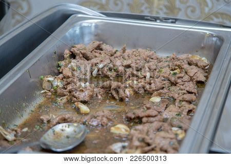 Beef Rendang With Coconut And Spices Dish Cuisine