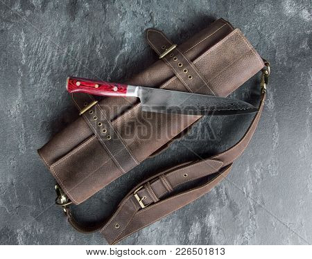 Excellent Japanese Chef's Knife From Damascus Steel.
