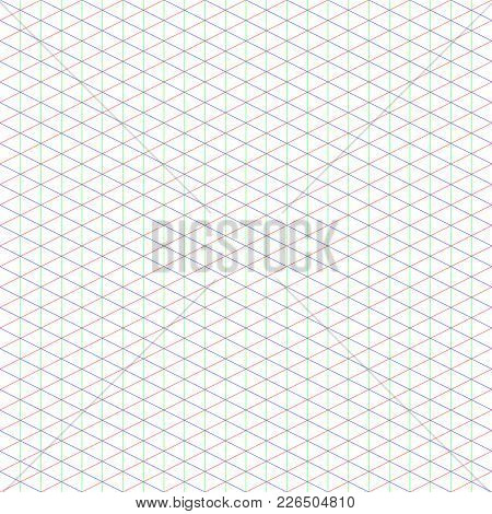 2:1 Large Isometric Grid Ideal For Pixel Art, With Three Axis: X, Y, Z.