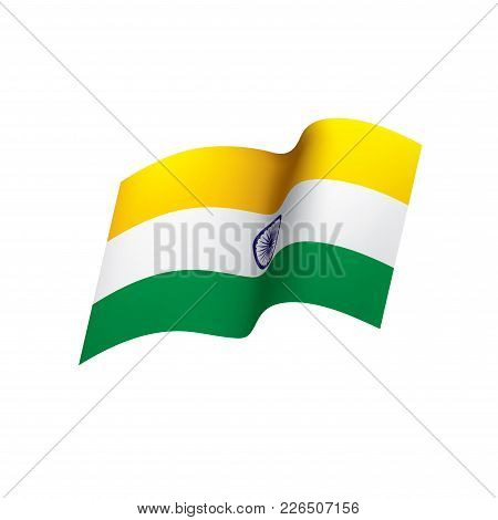 India Flag, Vector Illustration On A White Background