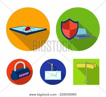 Hacker, System, Connection .hackers And Hacking Set Collection Icons In Flat Style Vector Symbol Sto