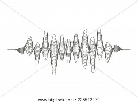 Vector Music Sound Wave Pattern On White Background