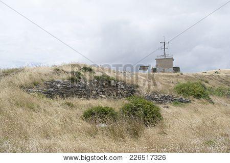 Fishery Beach, South Australia, Australia - December 2, 2017: The Remaining Ruins Of The Historic, B