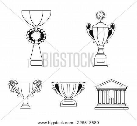 Cup.wineer Cup Set Collection Icons In Outline Style Vector Symbol Stock Illustration .