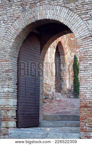 Entrance Of Alcazaba, A Palatial Fortification - Malaga, Andalusia, Spain