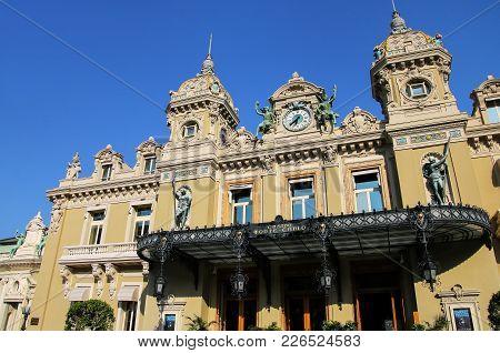Monte Carlo, Monaco - July 11: Main Entrance Of Monte Carlo Casino On July 11, 2015 In Monaco. Monte
