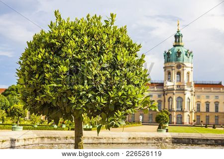 Berlin, Germany - June 30, 2014: Charlottenburg Palace And Garden In Berlin, Germany. The Palace Was
