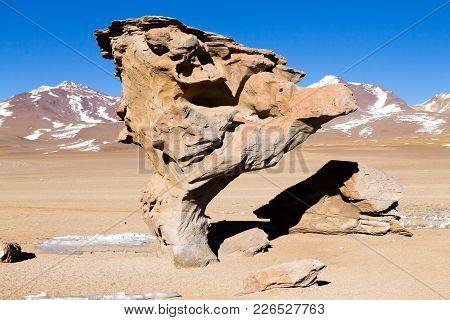 Stone Tree Rock, Bolivia. Bolivian Landmark. Arbol De Piedra