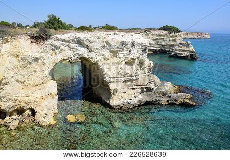 Coastline Near Otranto In Salento, Apulia Region, Italy
