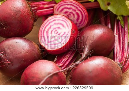 Red Striped Chioggia Or Sweet Candy Cane Beets Farm Fresh