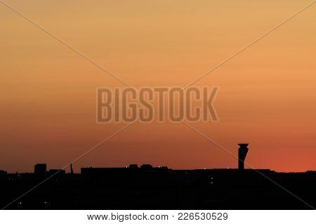 Hangars At O'hare At Night