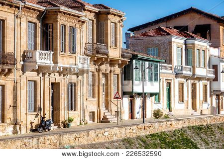 Colonial Style Buildings In Zahra Street. Nicosia, Cyprus
