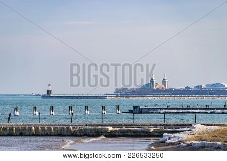 Chicago's Navy Pier From Afar