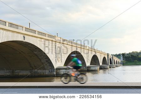 Memorial Bridge in an dramatic cloudy day - Washington D.C. United States of America