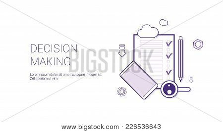 Decision Making Web Banner With Copy Space Business Management Concept Vector Illustration