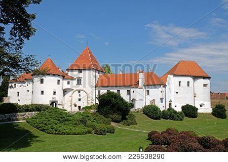 VARAZDIN, CROATIA - JULY 09: Varazdin castle in the Old Town, originally built in the 13th century in Varazdin, Croatia, on July 09, 2016.
