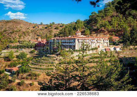Machairas Monastery, A Historic Monastery Dedicated To The Virgin Mary. Near Lazanias Village, Nicos