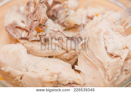 Boiled Meat Of Chicken. Meat Of A Turkey.