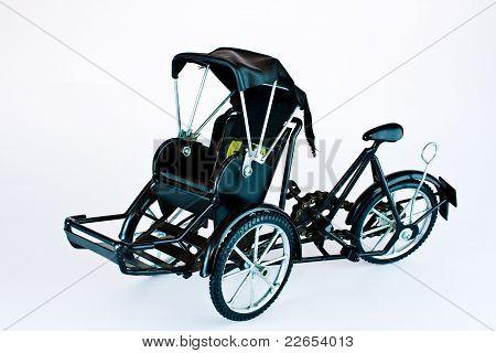 Becak, Rickshaw, Pedicab Isolated On White Background