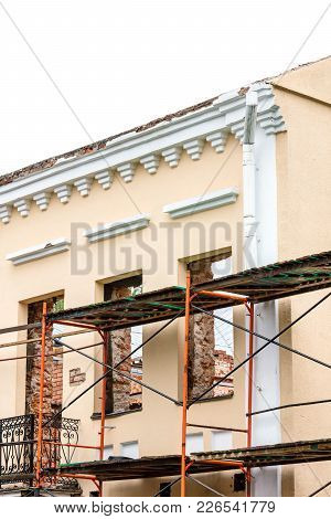 Old Historical Building Under Restoration
