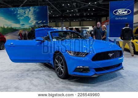 Seattle, Wa - November 12, 2017: The Redesigned 2018 Ford Mustang Is On Display At Annual Seattle In