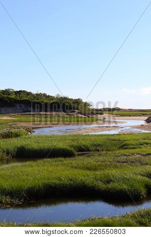 Sand, Dunes And Marshland On Cape Cod, Massachusetts.