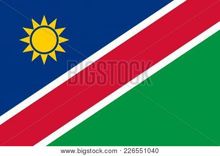 Flag In Colors Of Namibia, Vector Image