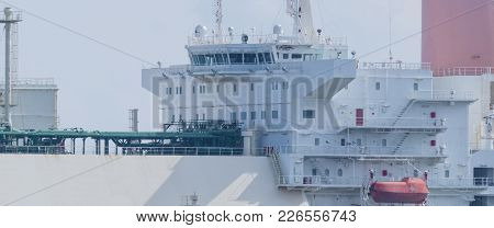 Gas Carrier - Command Post On A Ship