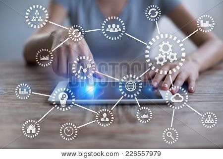 Iot. Internet Of Things. Automation And Modern Technology Concept