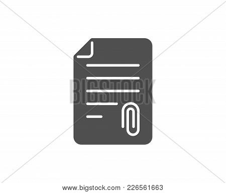 Cv Attachment Simple Icon. Document File Symbol. Quality Design Elements. Classic Style. Vector