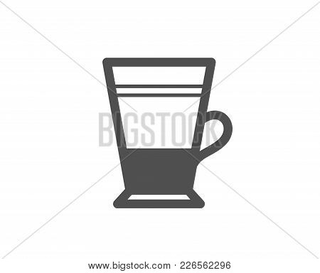 Double Latte Coffee Icon. Hot Drink Sign. Beverage Symbol. Quality Design Elements. Classic Style. V