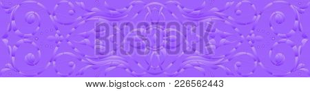 Background Illustration With Abstract Flowers,purple Halftone, Horizontal Orientation