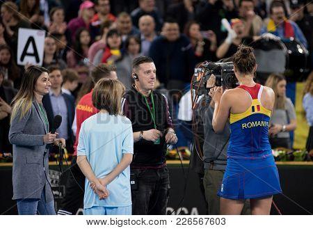 Romanian Tennis Player Irina Begu Signing Autograph