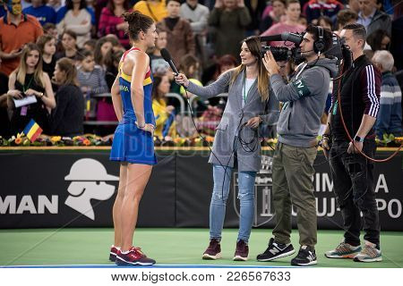 Tennis Player During Interview