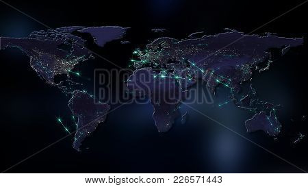 3d Rendering Of The Best Concept Of The Global Network, The Internet, Global Communication, Business