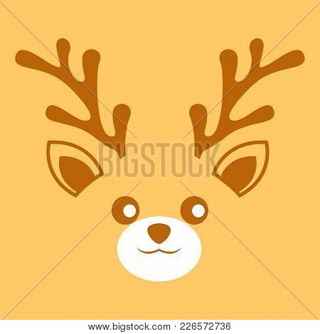Deer Antler Face Background Vector Illustration Graphic Design