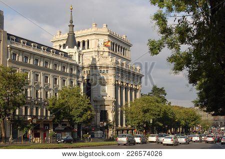 Gran Via Near The Cervantes Institute (instituto Cervantes) - Madrid, Spain, 29 September 2007