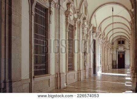 Hallway In The Royal Palace (palacio Real) - Madrid, Spain, 28 September 2007
